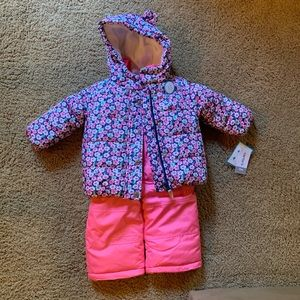 NWT 2 piece baby snowsuit